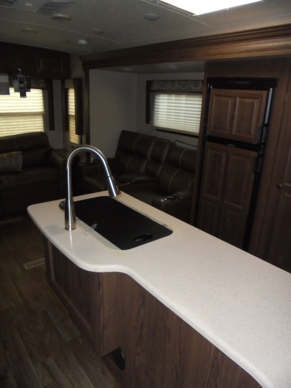 New Travel Trailer in Wilkesboro, North Carolina.