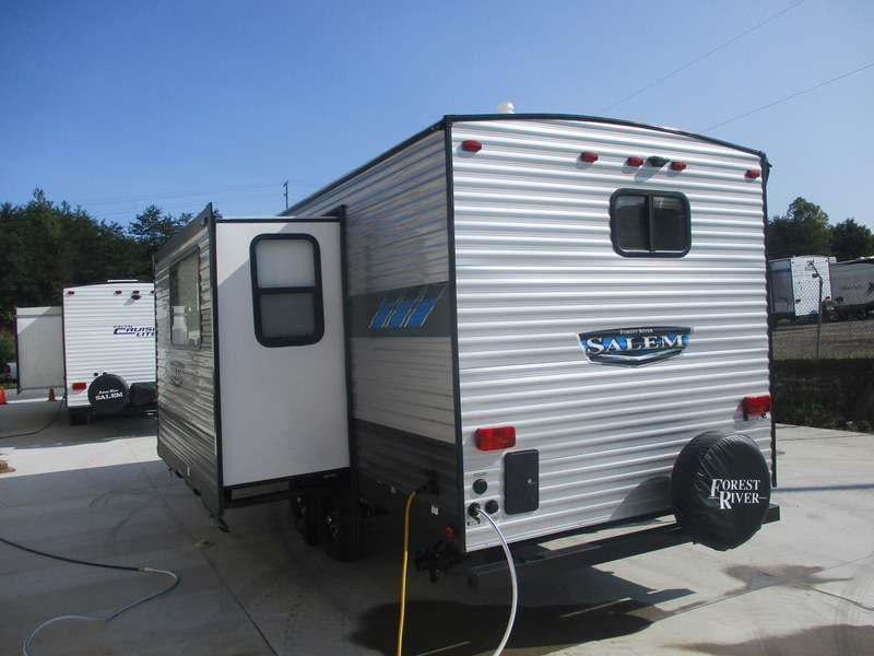 New Travel Trailer in the North Carolina Mountains.